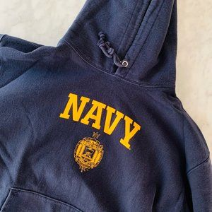 Champion Shirts - Champion NAVY 2XL Hoodie Pullover Oversized Cotton
